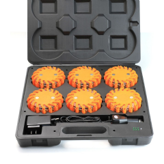 LED (Amber) Safety Magnetic Strobe 6 piece Beacon Kit WEB004